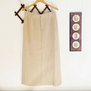 Vintage Linen Maxi Skirt